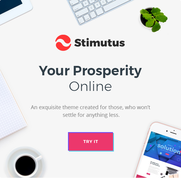 Stimutus - Creative Multihome Elementor Based WordPress Theme - 1