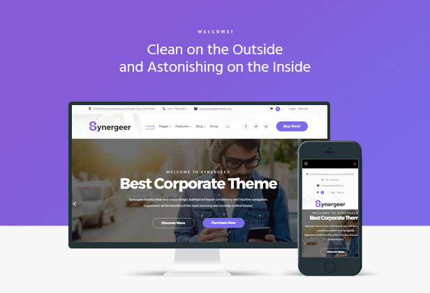Synergeer – Corporate Creative WordPress Theme (Corporate)