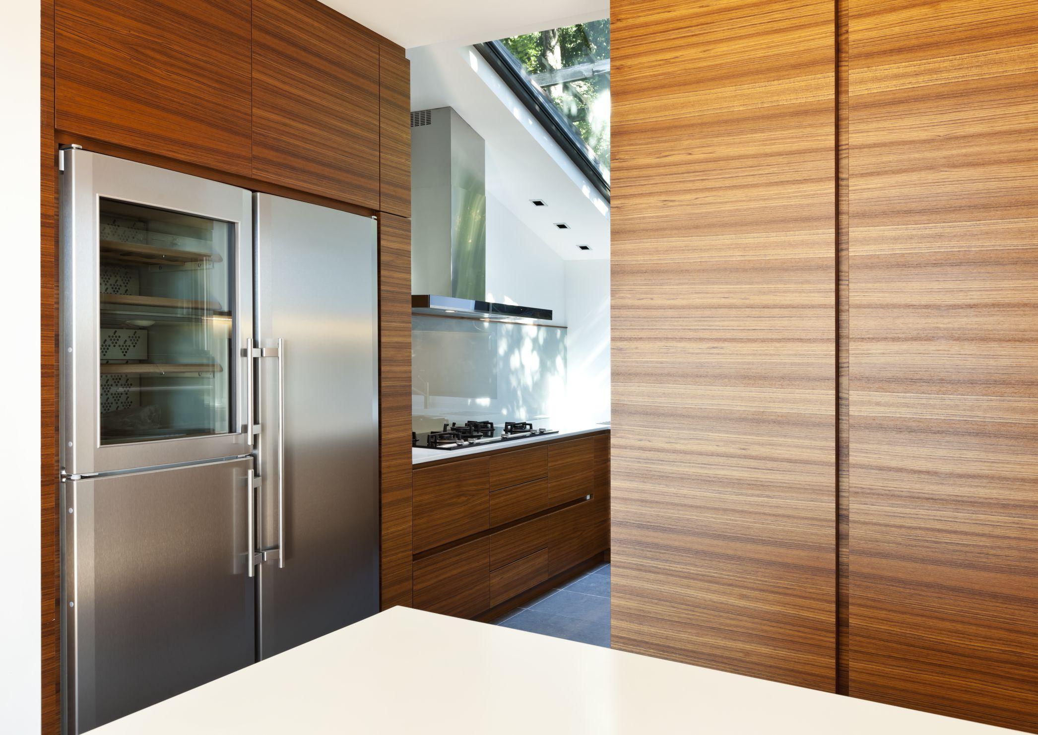 Modern empty apartment, kitchen view