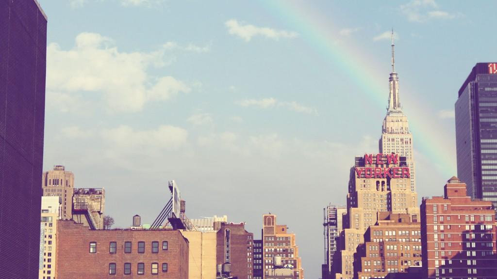 city-new-york-high-rise-rainbow
