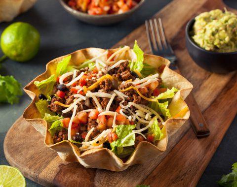 Taco Salad in a Tortilla