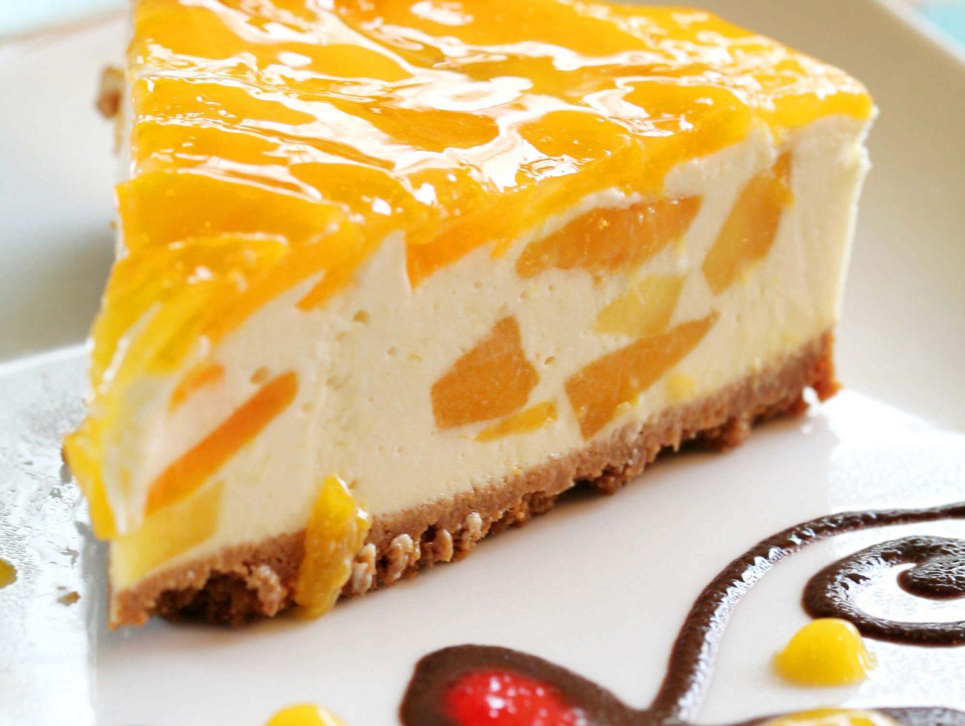 Персиковый чизкейк рецепт