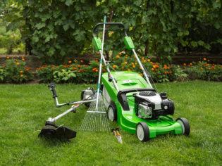 Outdoor shot of garden equipment.