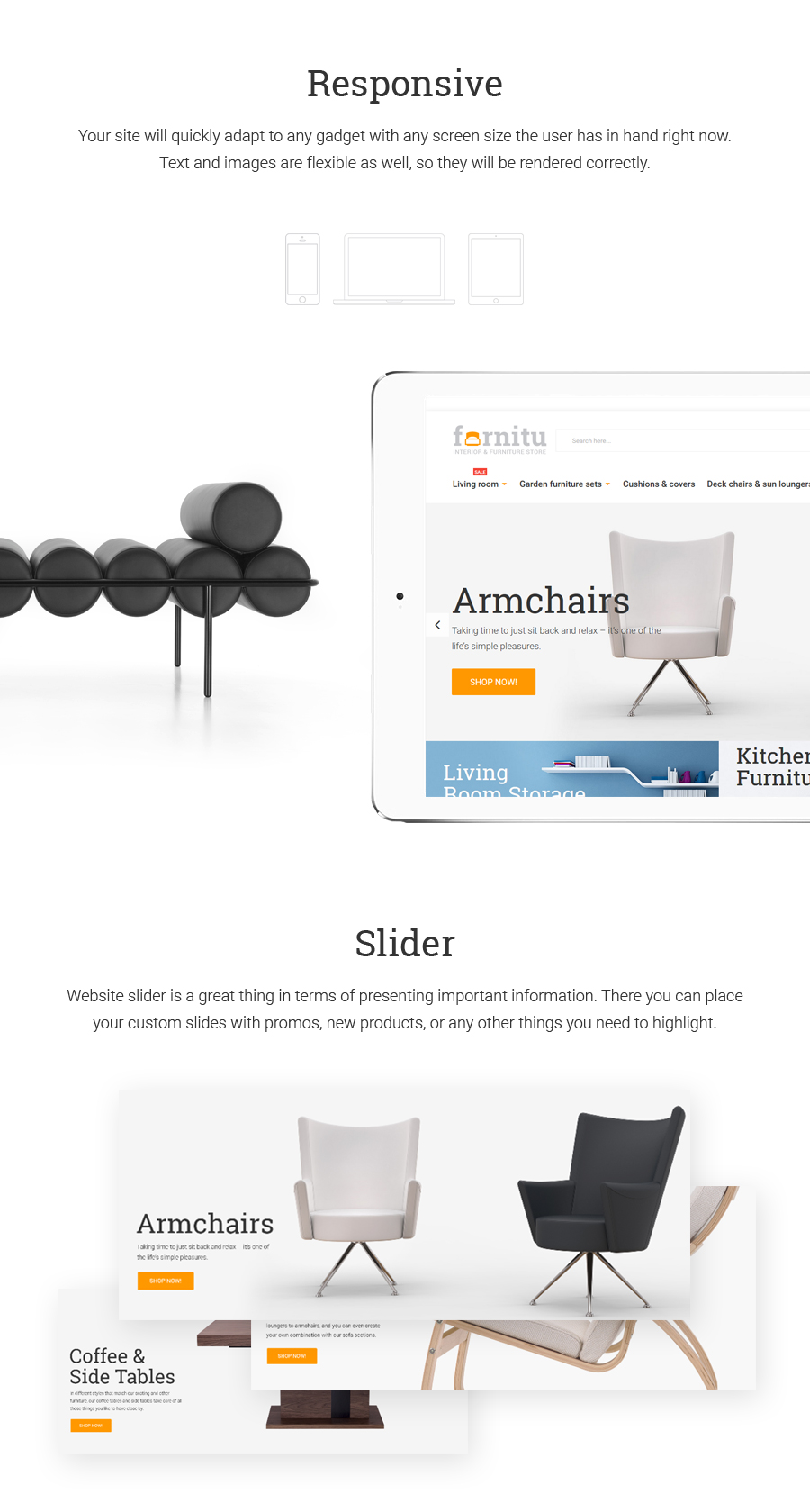 Furnitu -  Interior & Furniture Responsive Magento 1.9x Theme - 1