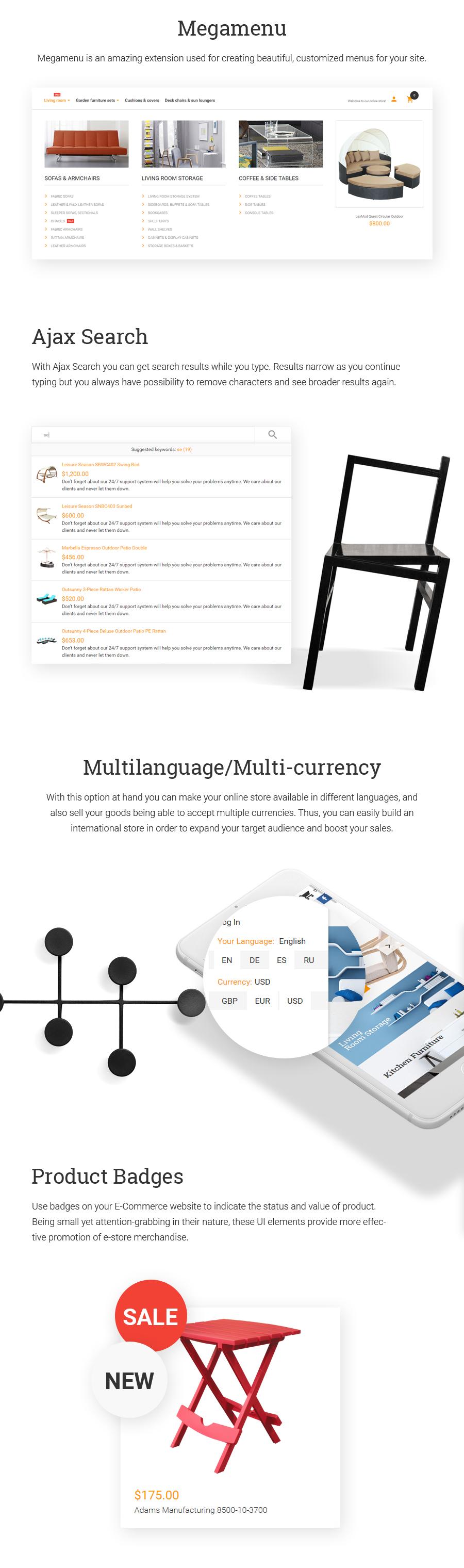 Furnitu -  Interior & Furniture Responsive Magento 1.9x Theme - 2