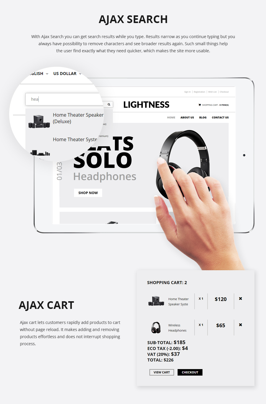 Lightness - Premium OpenCart theme - 4
