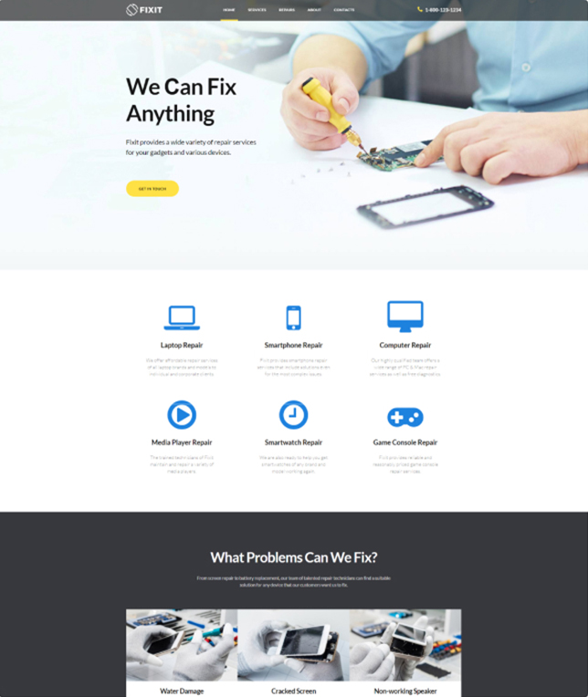 Demo Preview for Monstroid WordPress Theme #55555