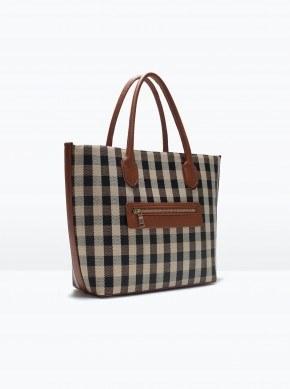 Check print tote bag_2