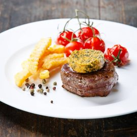 Beef Steak with Butter and Baked tomato 1
