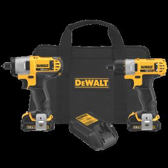 DEWALT DCK210S2 Screwdriver-Impact Driver Combo Kit (4)