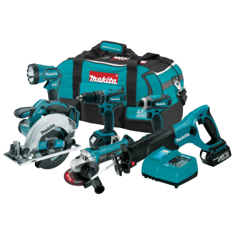 Makita LXT601 18-Volt LXT 6-Piece Lithium-Ion Cordless Combo Kit 1