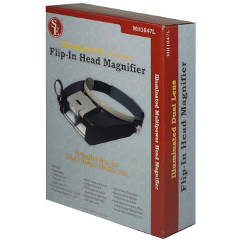SE MH1047L Illuminated Multipower LED Binohead Magnifier 1