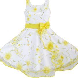 Sunny Fashion 3 Layers Girls Dress Sunflower_01