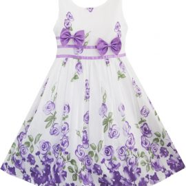 Sunny Fashion Girls Dress Purple Rose_01