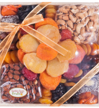 Golden State Fruit Flora Dried Fruit and Nut Gift Tray 4