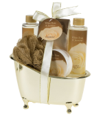 White Rose Jasmine Gold Tub Spa Bath Gift Set 1
