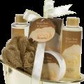 White Rose Jasmine Gold Tub Spa Bath Gift Set 4