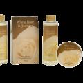 White Rose Jasmine Gold Tub Spa Bath Gift Set 5