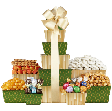 Wine Country Gift Baskets Tower of Sweets 1