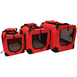 Mool Lightweight Fabric Pet Carrier Crate with Fleece Mat (1)