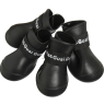 Pet Dog Rain Boots Booties Waterproof Protective Rubber Shoes,3 sizes,BLACK_1