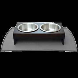 PetFusion Pet Food Mat in Premium FDA Grade Silicone (Large, Grey)_5