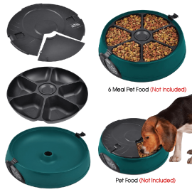 Popamazing 6 Days Cat + Dog + Rabbit Meal Automatic Pet  (5)