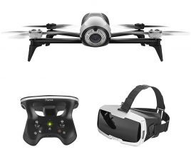 Parrot - Bebop 2 Quadcopter with Skycontroller 2 and Cockpit FPV Glasses - White 1