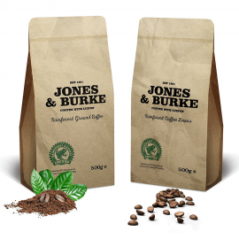 Jones & Burke. RATED Ground Coffee THE PUREST & FRESHEST Ground Coffee 500g (1)