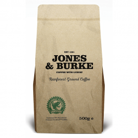 Jones & Burke. RATED Ground Coffee THE PUREST & FRESHEST Ground Coffee 500g (2)