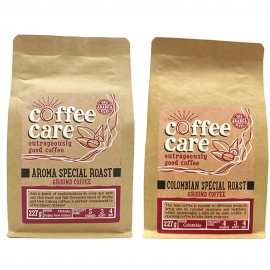 Taster Pack of 100% Arabica Ground Coffee 3 x Variety of Strong Ground Coffee 227G from Coffee Care (1)
