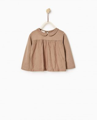 CONTRAST EMBROIDERED TOP 1