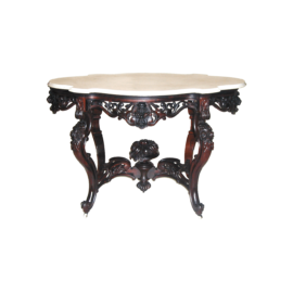 American Rococo Laminated Rosewood Center Table By Meeks_01