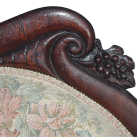 Victorian Rosewood Meridienne In The Rosalie Pattern By John Henry Belter_02