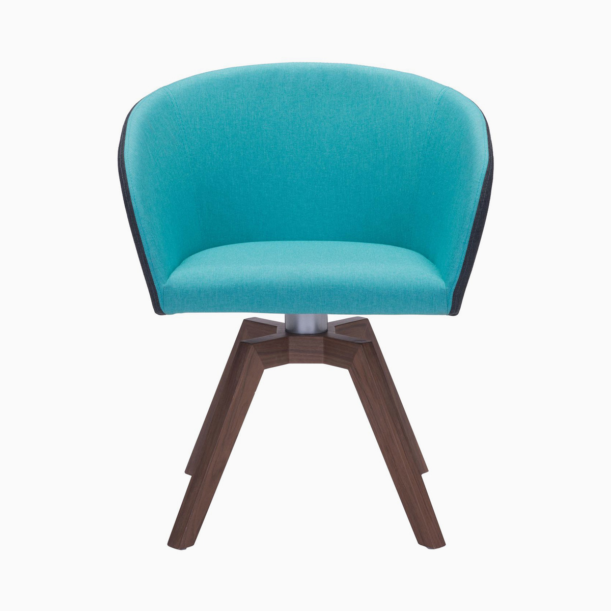 zuo modern two piece wander blue dining chair