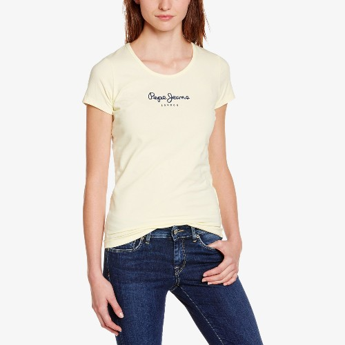 Pepe-Jeans-Women's-NEW-VIRGINIA-Plain-Short-Sleeve-T-Shirt_01