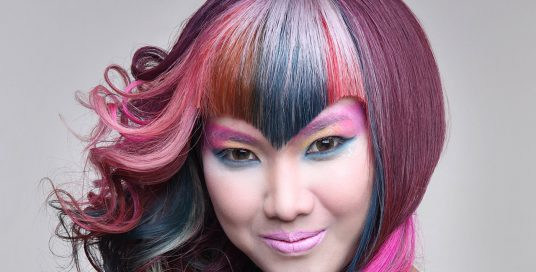 Winterish version of rainbow hair?