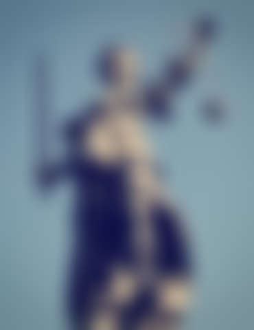 Statue of Lady Justice with retro effect.