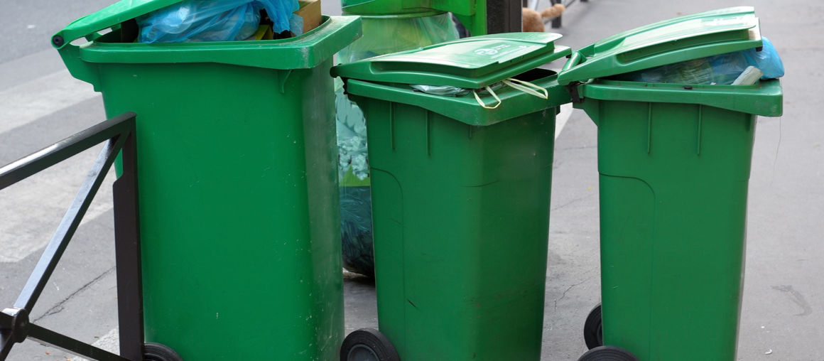 Three plastic garbage tanks